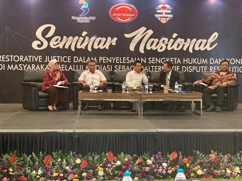 Seminar Nasional Mewujudkan Restorative Justice Melalui Mediasi